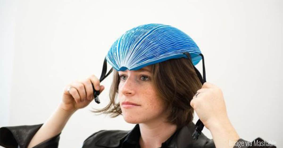 Single-Use Paper Bike Helmets Made from Recycled Paper